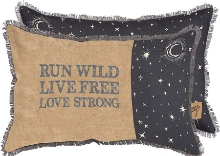 Run Wild. Live Free. Love Strong. - Decor Pillow