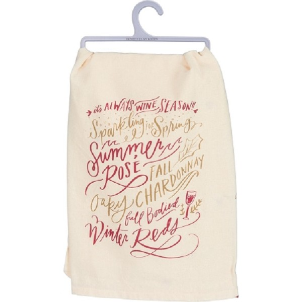 It's Always Wine Season - Dish Towel