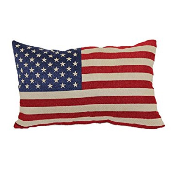 "American Flag - Throw Pillow - 12"" x 20"""