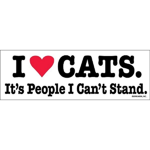 I Love Cats. It's People I Can't Stand - Magnet