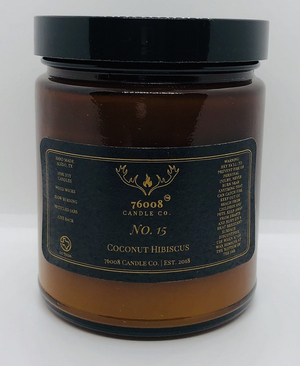Coconut Hibiscus No. 15 - 76008 Candle Co. - Soy Candle - 8 oz