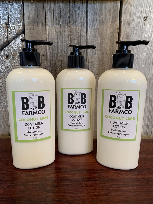 Coconut Lime - B and B Farm Co - Natural Goat's Milk Body Lotion - 8oz