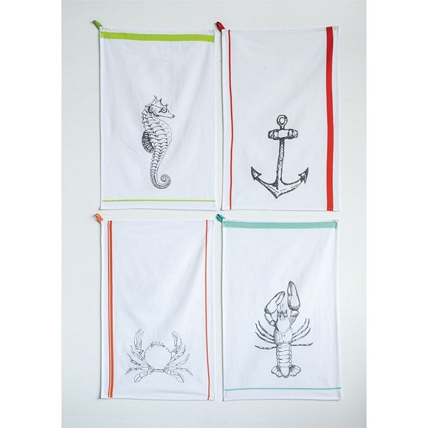 Nautical Cotton Tea Towels - 4 Styles