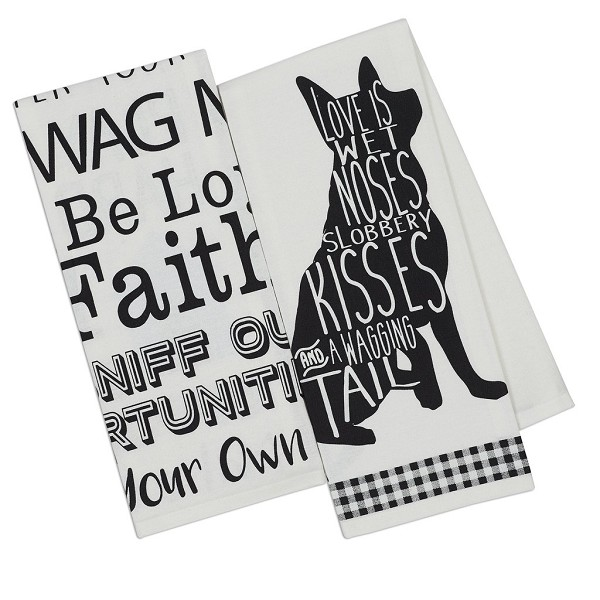 Dog - Printed Dish Towels