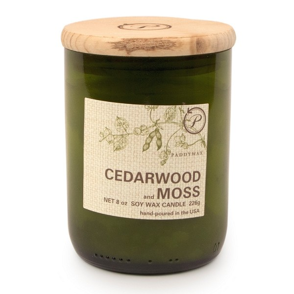 Cedarwood and Moss - Paddywax Eco Green - Soy Candle - 8 oz