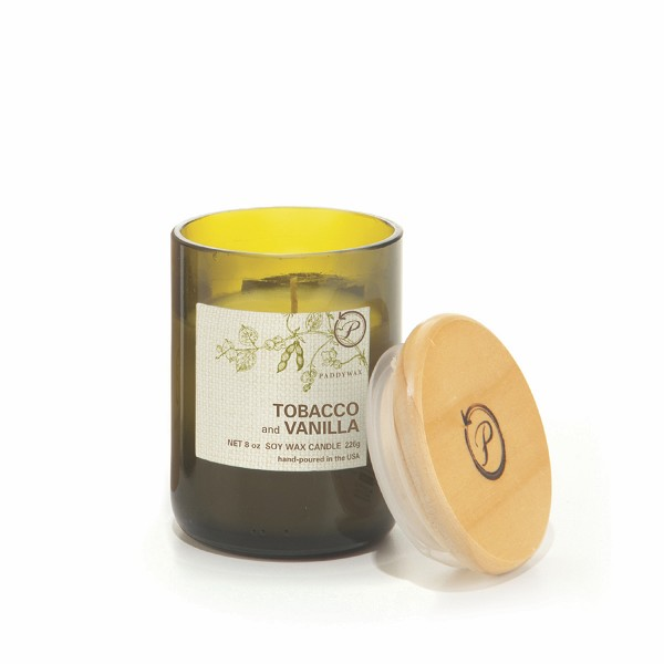 Tobacco and Vanilla - Paddywax Eco Green - Soy Candle - 8 oz