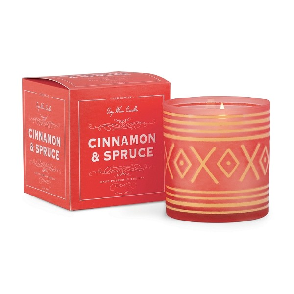 Cinnamon and Spruce - Paddywax - Glee Holiday - Soy Candle - 8oz