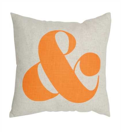 "Square Cotton ""&"" Pillow, 17.75 inch Square"