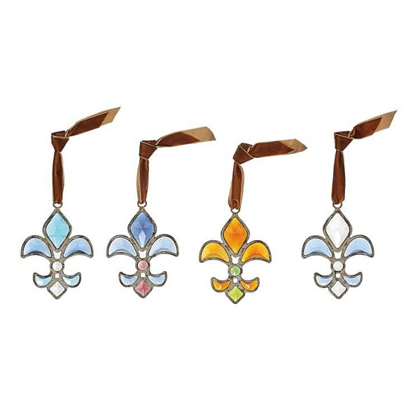 Glass & Green Zinc - Fleur De Lis Ornament