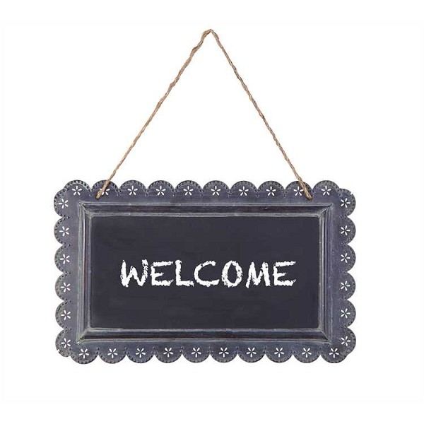 Casual Country - Tin Hanging Chalkboard - 15.25-Inch by 8-Inch