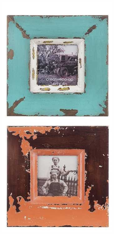 "4x4"" MDF Distressed Picture Frame- Sale/Closeout"