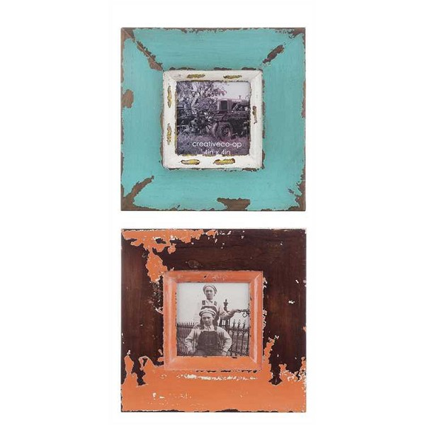 "4x4"" Distressed Picture Frame- Sale/Closeout"