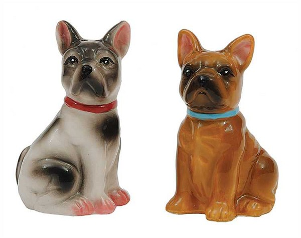 French Bulldogs Salt and Pepper Shakers Set, Multicolor