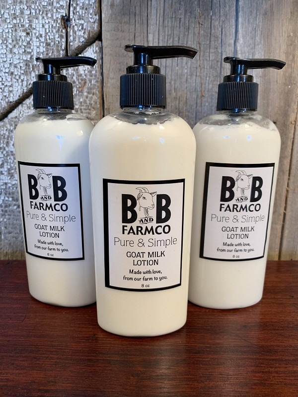 Pure and Simple - B and B Farm Co - Natural Goat's Milk Body Lotion - 8oz