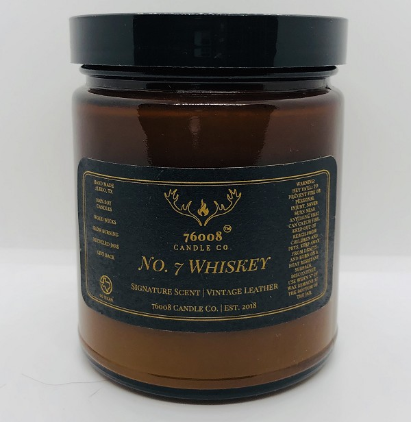 Whiskey No. 7 - 76008 Candle Co. - Soy Candle - 8 oz