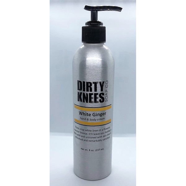 White Ginger - Hand & Body Cream - Dirty Knees Soap - 8oz
